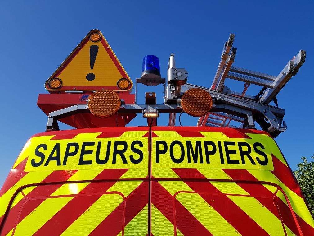 L'intervention des pompiers a pris fin vers 17 h (photo PN)