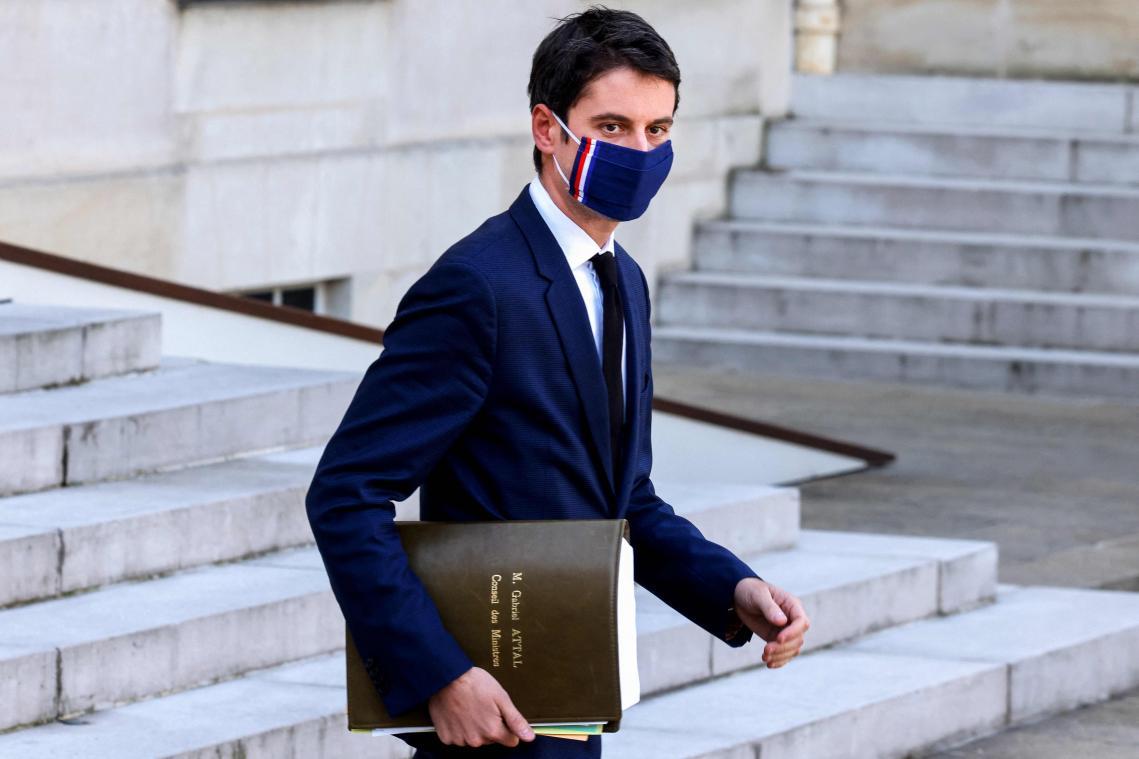 Gabriel Attal s'est exprimé lors du Conseil des ministres. (Photo AFP)
