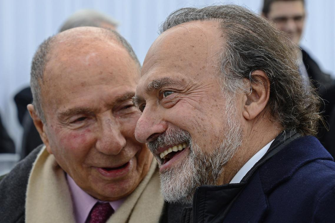 Olivier Dassault et son père Serge, ici en décembre 2012. (Photo : AFP)