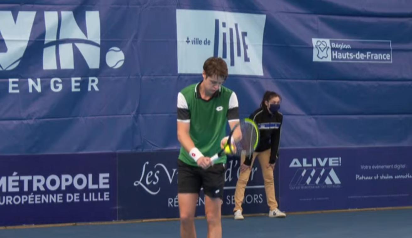 Tennis: Maxime Janvier en demi-finales du tournoi de Lille