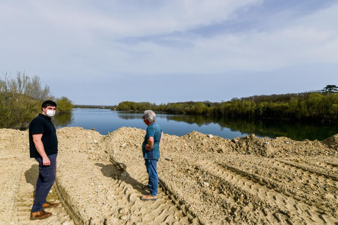 Benoist Stref sur le site où 400 000 m³ de remblais seront « importés » de région parisienne. (Photo Boris Maslard/PN)