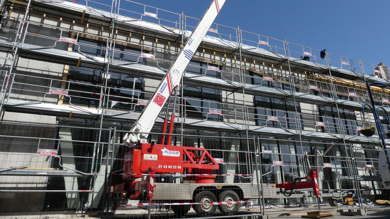 Le chantier de consruction du Zèbre doit s'achever à l'automne dans le centre d'Albert.