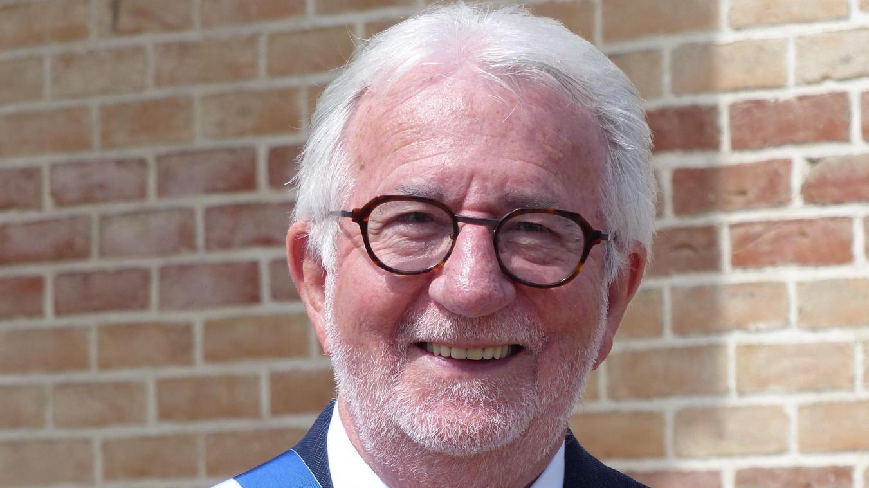 Bernard Davergne, lors de sa réélection à la fonction de maire en 2020.