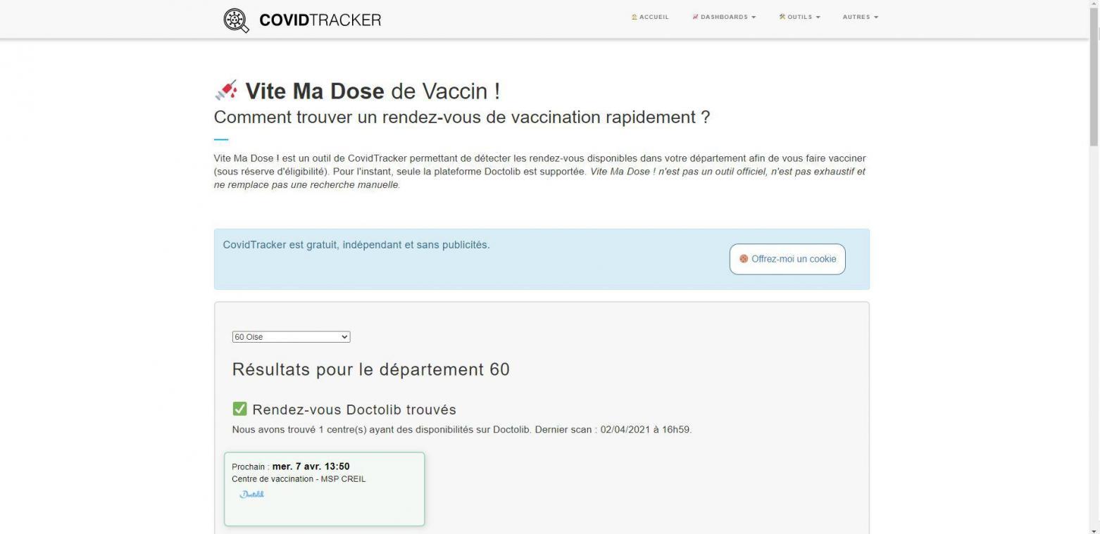 Savoir quand vous pourrez être vacciné ? Un site repère les créneaux libres dans les centres de vaccination