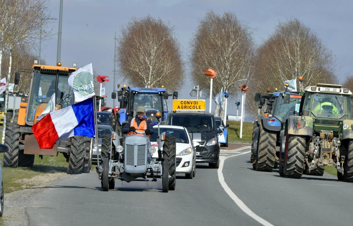 Le convoi des tracteurs a été impressionnant à Laon.