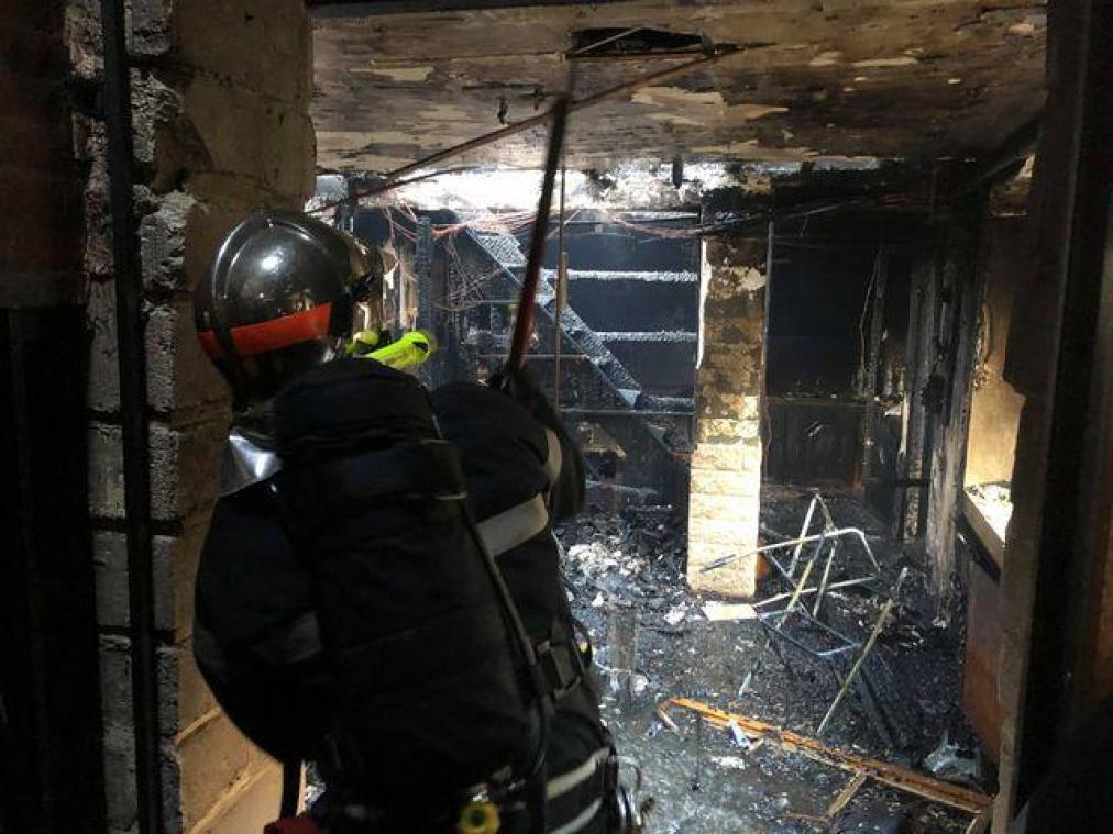 Un important incendie dans une habitation de Balagny-sur-Thérain