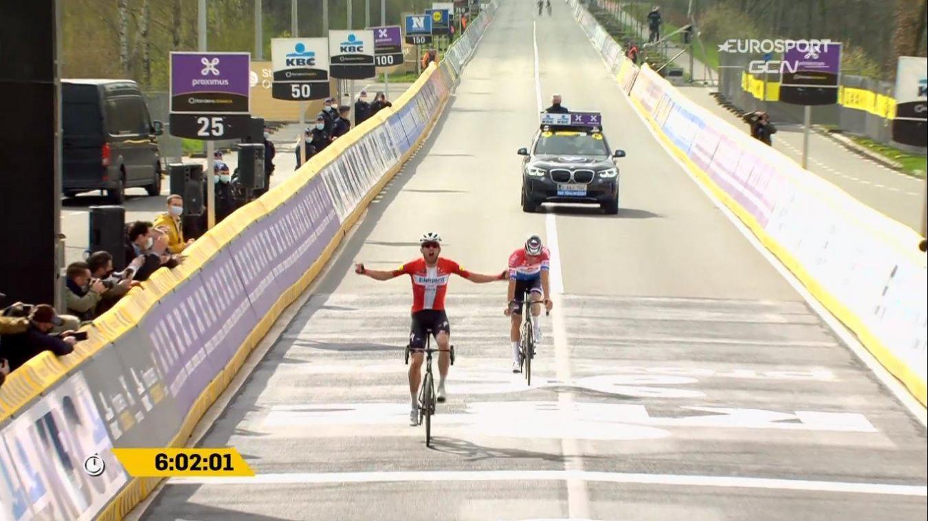 Tour des Flandres: Asgreen vainqueur au sprint devant van der Poel