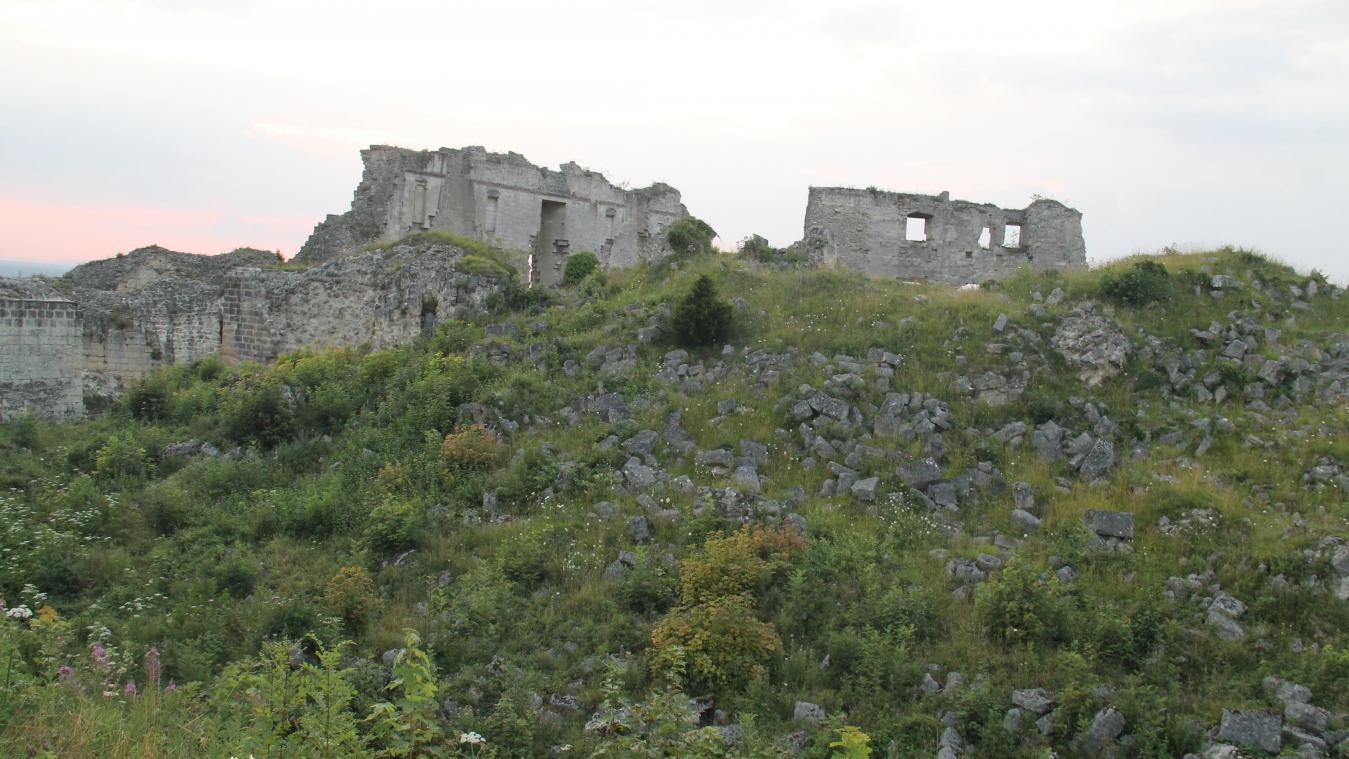 À la place des ruines, de nombreuses voix s'élèvent pour remonter le donjon dynamité en 1917, ou une partie.