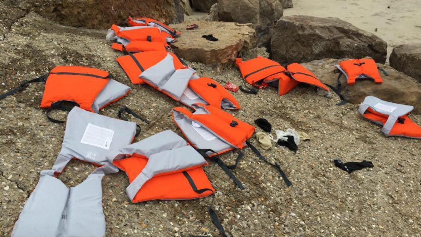 Les migrants portaient tous un gilet de sauvetage.