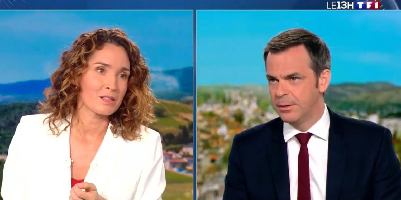 Le ministre de la Santé Olivier Véran a notamment évoqué la stratégie de vaccination et le déconfinement sur le plateau de TF1 ce lundi 5 avril.