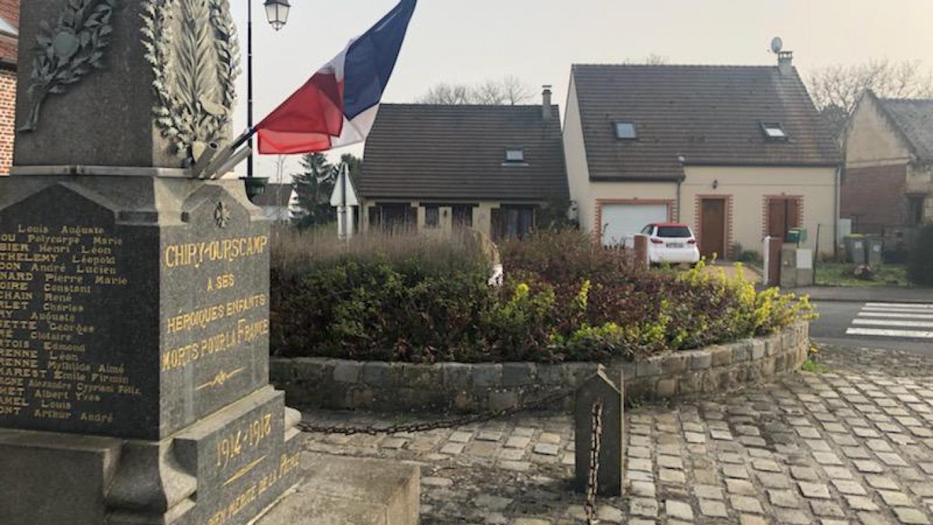 Les faits se sont déroulés à Chiry-Ourscamp, place des Tilleuls.