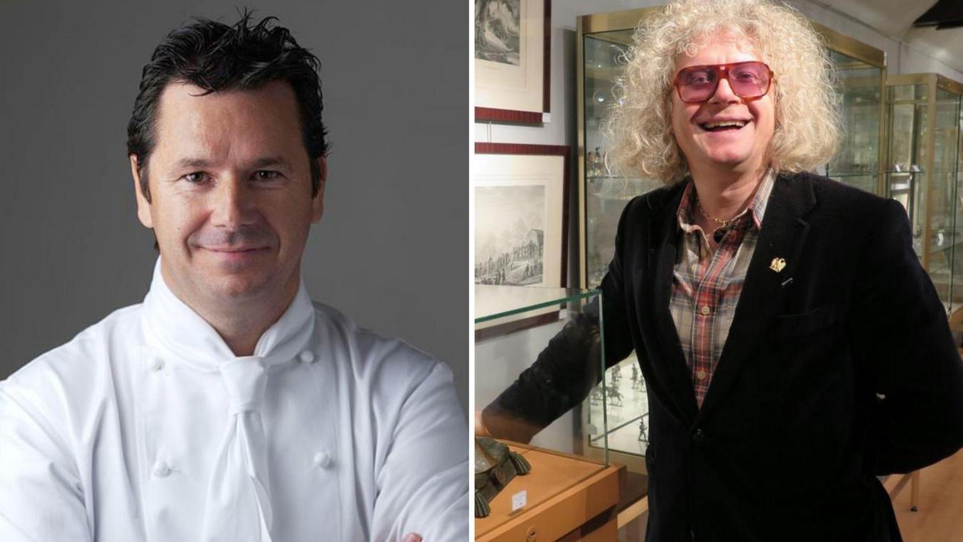 Christophe Leroy et Pierre-Jean Chalençon sont accusés d'avoir organisé des dîners clandestins haut de gamme à Paris.