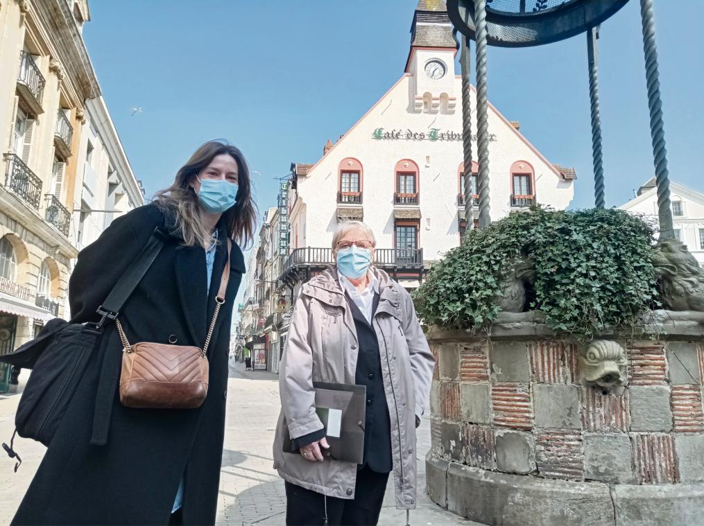 Élise Emery, psychologue à la Fondation Les Nids, et Françoise Duperrey, présidente de l'association En Parler (Photo PN)