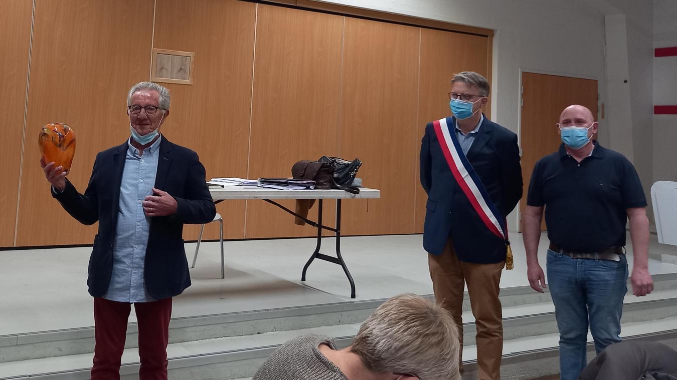 Christian Becquet a été mis à l'honneur par le conseil municipal.