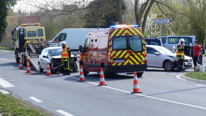 Deux blessés dans un accident à Brie