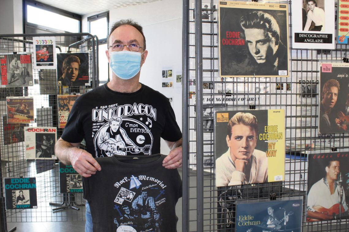 David Rouiller portait ce t-shirt quand il avait 12 ans (Photo Paris-Normandie)