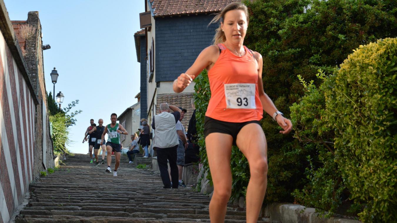 Cette année la docteur Mélanie Doutart aura bien d'autre chose à faire que de venir assouvir sa passion pour la course à pied du chateau fort de Picquigny. (Photo F.D.)
