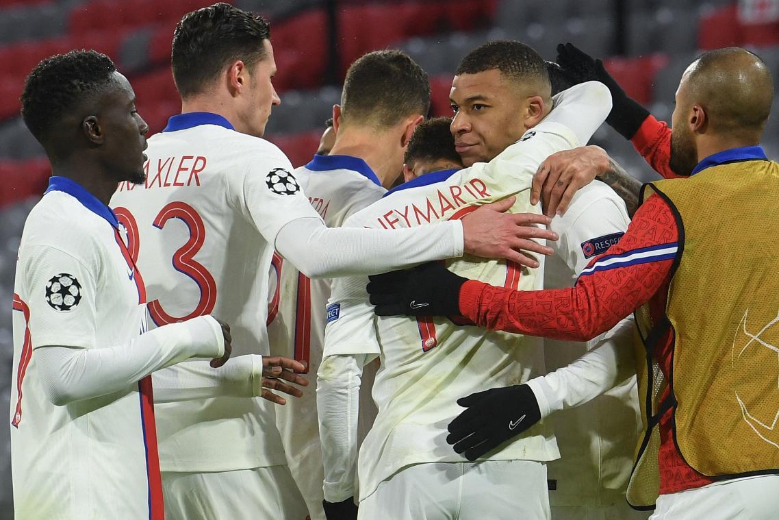 Kylian Mbappé et les Parisiens ont réalisé un très joli coup en s'imposant sur la pelouse du Bayern de Munich (photo AFP).