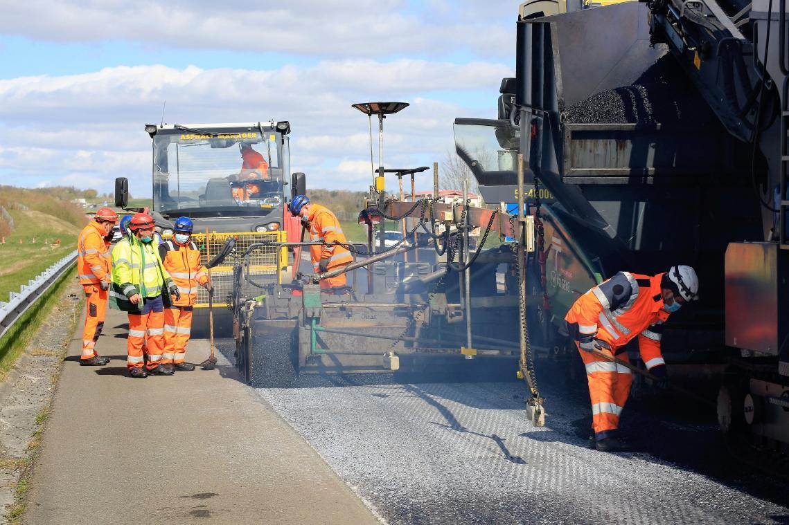Gros chantier sur l'A16