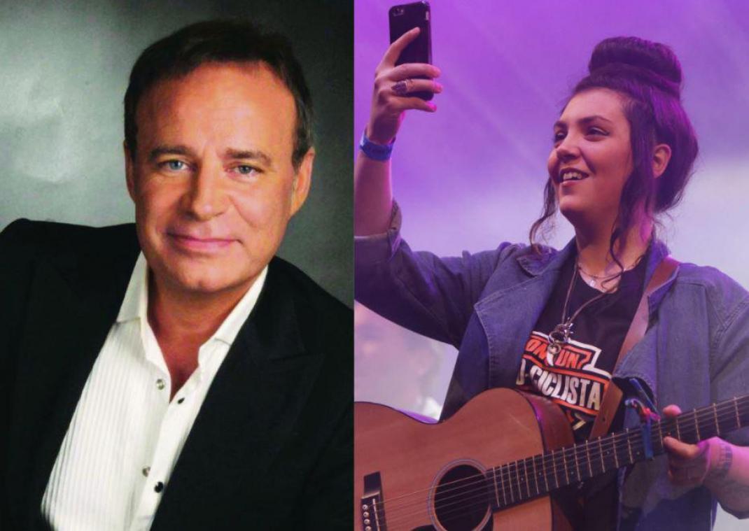 Fabien Lecoeuvre (à gauche) estime que Hoshi (à droite) devrait laisser ses chansons à des filles «sublimes»... Un point de vue que ne partage pas du tout l'artiste aux 300.000 albums vendus.
