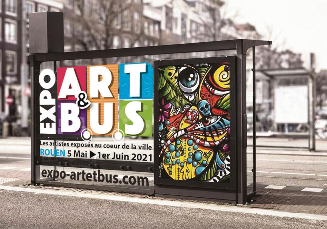 Des œuvres seront exposées sur les abribus (Visuel André Roque photographe)