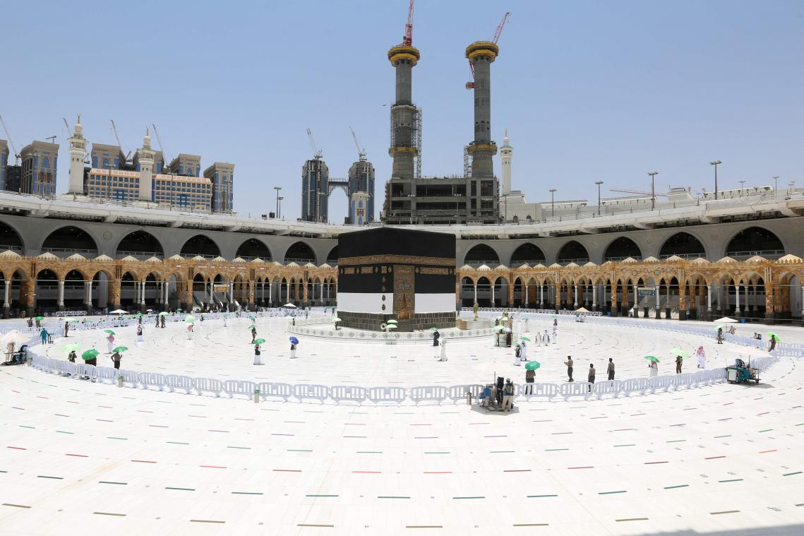 A few thousand pilgrims against more than 2 million could normally go to Mecca.