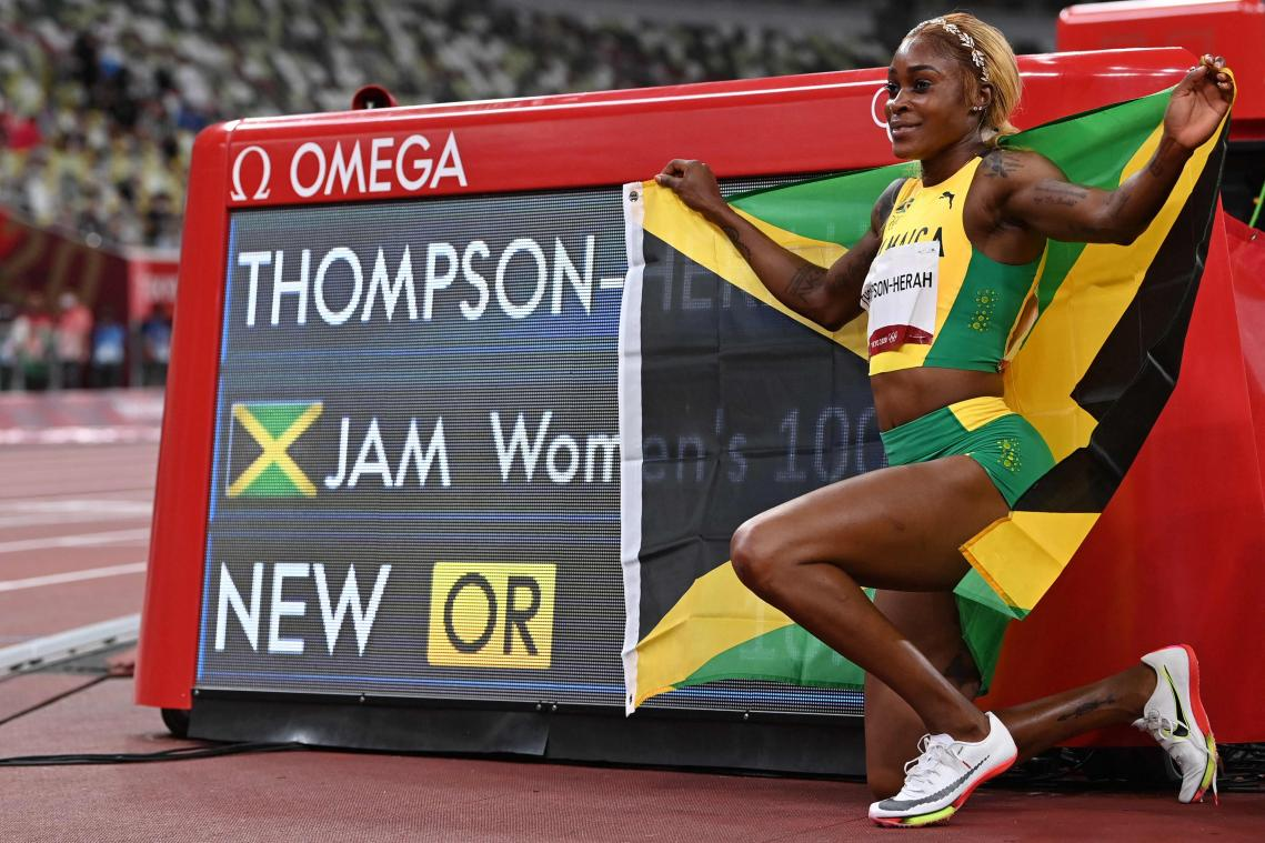 JO: deuxième titre et deuxième chrono de l'histoire sur 100 m pour la Jamaïcaine Elaine Thompson-Herah