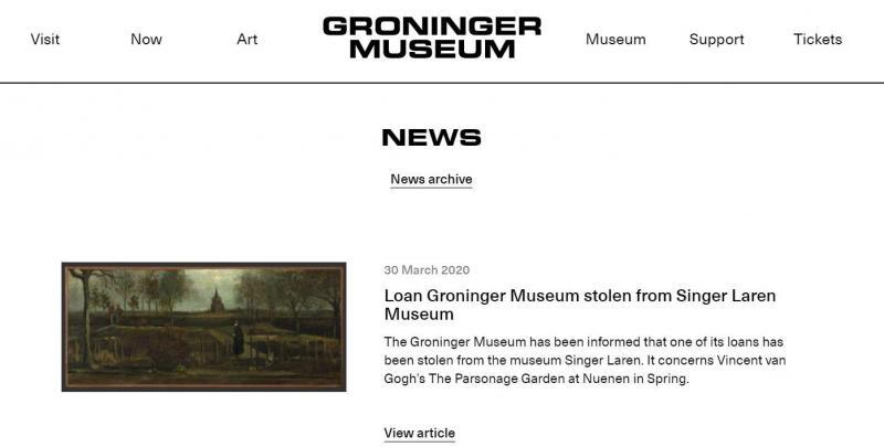 Un tableau de Van Gogh volé d'un musée néerlandais