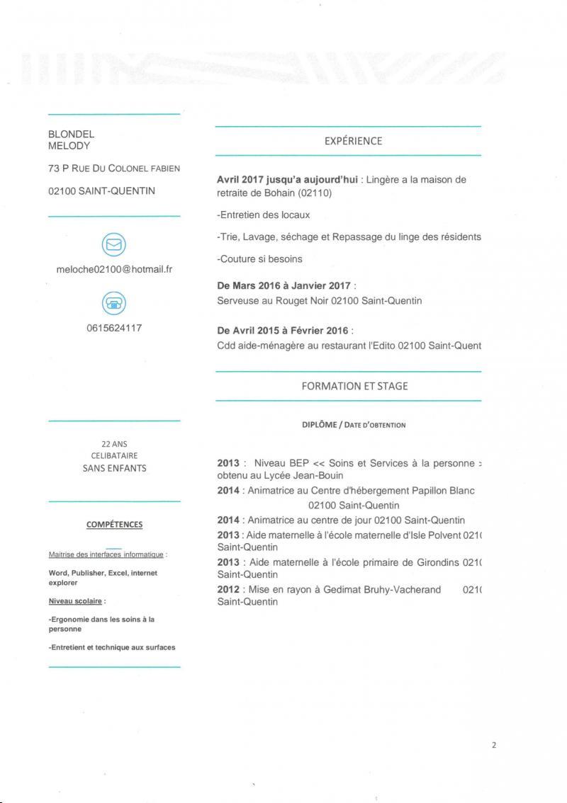 La candidate de la semaine: Melody Blondel, lingère au service des