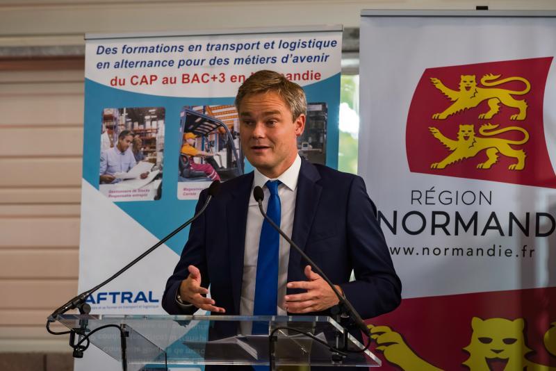 David Margueritte, vice-président (LR), en charge de la formation et des compétences, au sein du Conseil régional de Normandie.