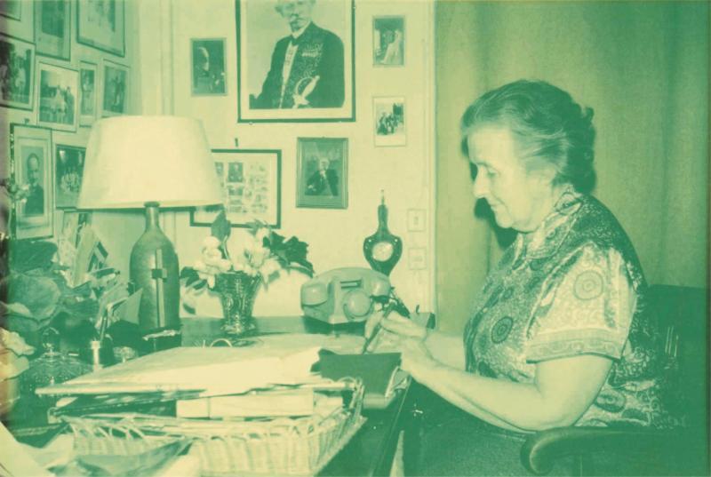 Mireille Pierson passait beaucoup de temps aussi dans on bureau.