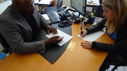 M es Stéphanes Diboundje et Giuseppina Marras se félicitent de la décision des magistrats.