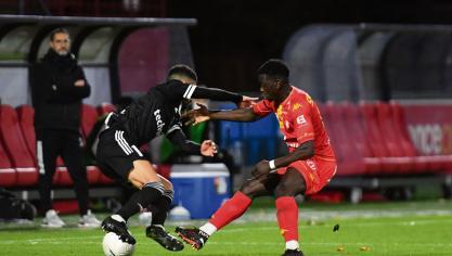 Le 13/11/2020 Stade Diochon à Rouen match de national 1 QRM - Cholet ( JM THUILLIER )