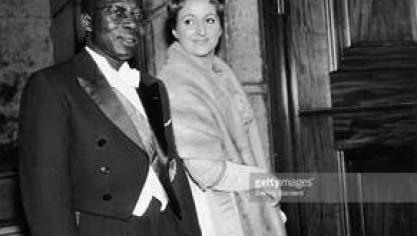 Léopold Sédar Senghor et son épouse Colette (photo D.R)