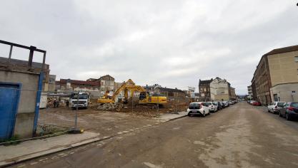 Cent logements vont « pousser » à la place de la manufacture détruite. (Photo PN)