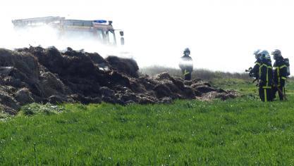 Une fumée gêne l'axe Saint-Quentin – Péronne après un feu de fumier près de Cartigny