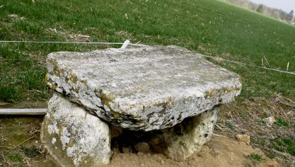The tomb of the Druid, also called the cross of Rouville.  (Photo PN)