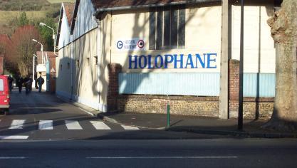 Holophane est une entreprise emblématique des Andelys depuis un siècle. (Photo d'archives Paris-Normandie)
