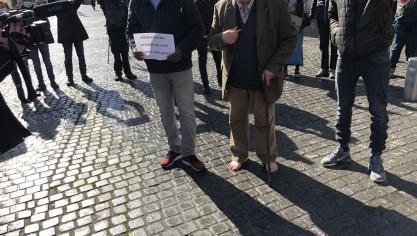Amiens: Guy de la Motte Saint-Pierre, pieds nus et cœur gros [VIDÉO]