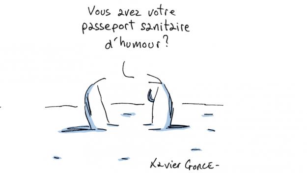 Le dernier dessin (d'adieu) de Xavier Gorce, le 21 janvier, sur son blog du Monde «Les indégivrables»