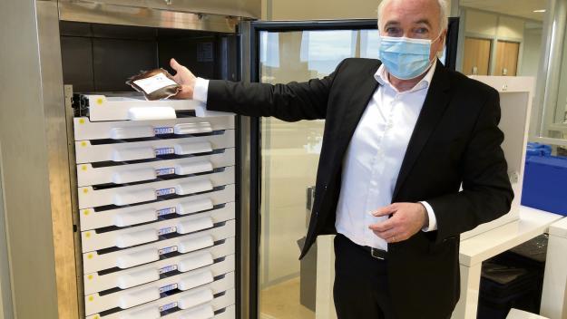 Bruno Chappert, président de la start-up, spécialisée dans la traçabilité des produits thérapeutiques sensibles. (Photo : PN)