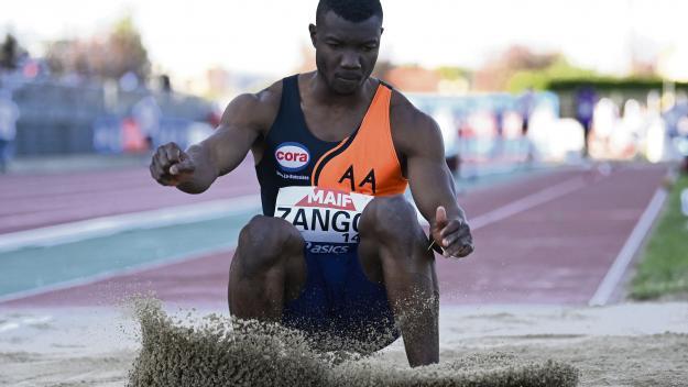 Hugues Fabrice Zango espère aller loin aujourd'hui à Val-de-Reuil (photo AFP).