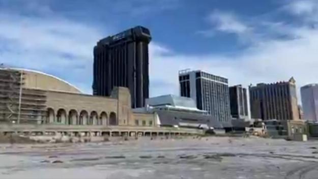 Le casino Trump d'Atlantic City peu avant sa destruction