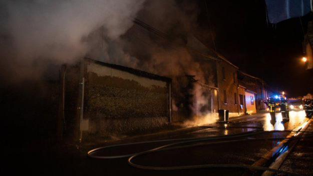 L'incendie de cette nuit à Auneuil.