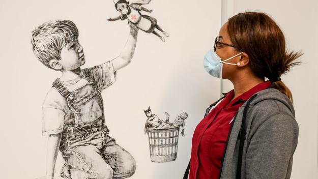 L'oeuvre de Banksy a été vendue aux enchères à près de 20 millions d'euros