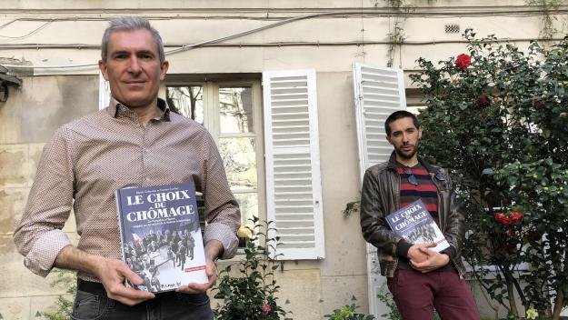 Benoît Colombat, grand reporter à Radio France et Damien Cuvillier,dessinateur de l'album le Choix du chômage (édition Futuropolis, 2021)