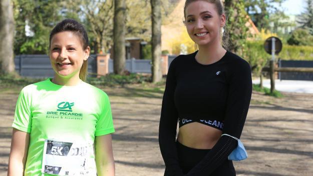 Malgré la difficulté de la course, Tara de Mets n'a pas quitté son sourire, heureuse d'avoir pu rencontrée Marion et d'avoir couru pour la bonne cause.