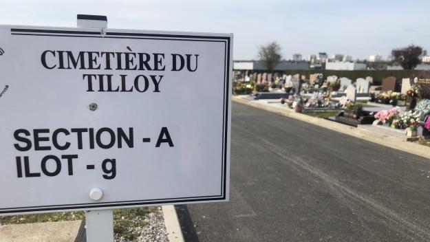 Les nouvelles allées du cimetière du Tilloy sont actuellement en cours d'aménagement.
