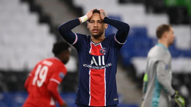 Réaction de Neymar pendant le match PSG-Bayern Munich.