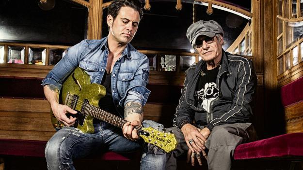 Les Lanvin père et fils réunis pour la première fois dans un album réalisé à quatre mains et intitulé « Ici bas ». (Photo Éric Martin)